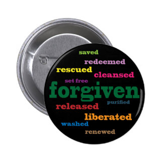 Forgiven Christian button (black)