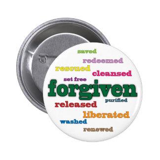Forgiven Christian button (white)