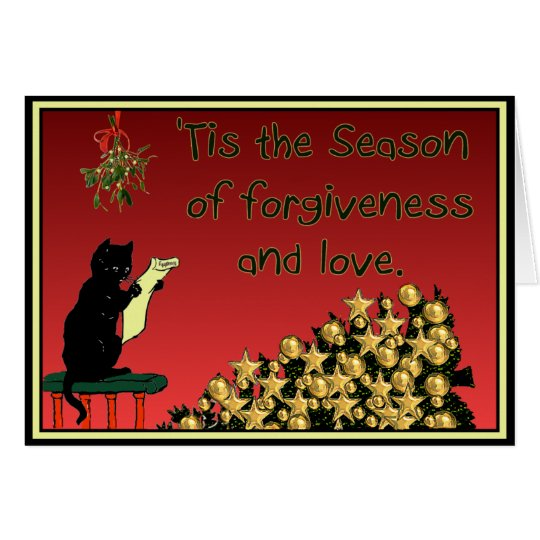forgiveness and love Christmas card