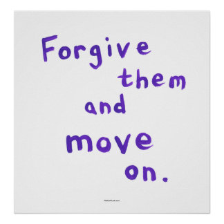 Forgiveness growth recovery progress freedom poster