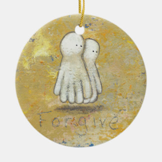 Forgiveness healing recovery ghosts the past art round ceramic decoration