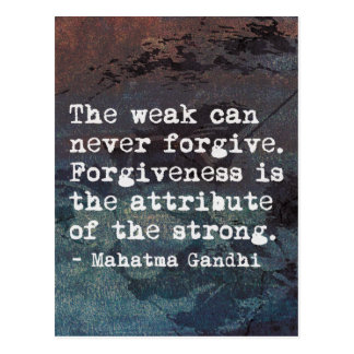 Forgiveness - Inspirational Gandhi quote poster Postcard