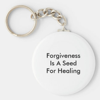 Forgiveness Is A Seed For Healing Basic Round Button Key Ring