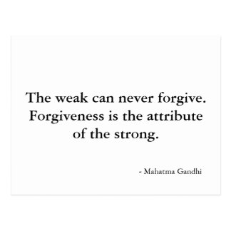Forgiveness quote - postcard