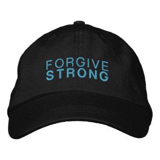 Forgivestrong Black Adjustable Hat Embroidered Hat