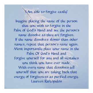 Forgiving others and the self poster