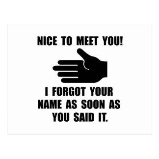 Forgot Your Name Postcard