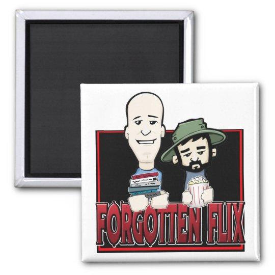 Forgotten Flix Square Magnet