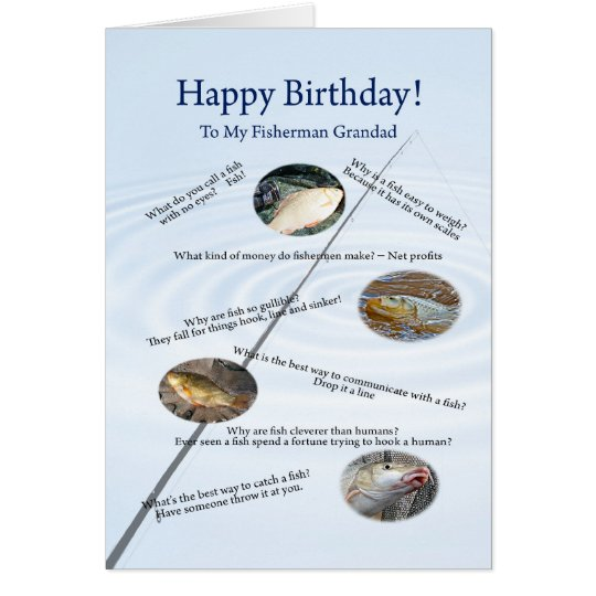 Forgrandad, Fishing jokes birthday card