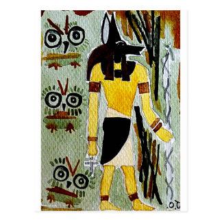 forheatanubis.jpg Anubis Egypt owls Post Card