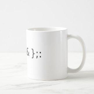 Fork Bomb Basic White Mug