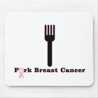 Fork Breast Cancer Mouse Pad