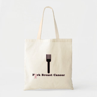 Fork Breast Cancer Tote Bag