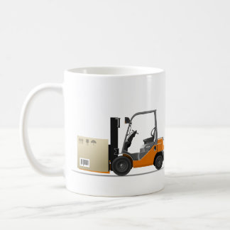 Fork elevator truck basic white mug