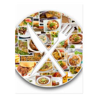 Fork Knife Foods Postcard