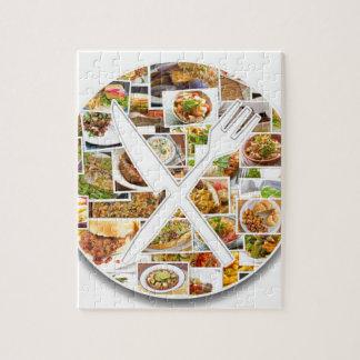 Fork Knife Foods Puzzle
