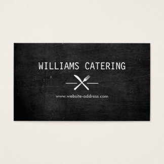 FORK KNIFE INTERSECT LOGO in WHITE on BLACK WOOD