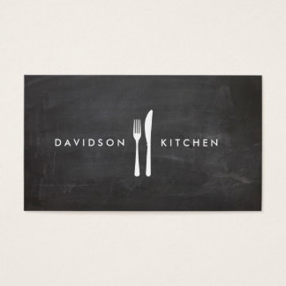 Fork & Knife Logo 3 for Chef, Foodie, Restaurant Business Card