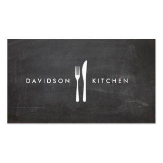 Fork Knife Logo 3 for Chef Foodie Restaurant Business Card