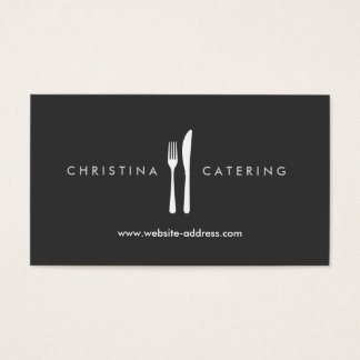 FORK & KNIFE LOGO Business Card