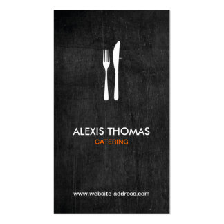 Fork & Knife Logo for Catering, Chef, Restaurant Double-Sided Standard Business Cards (Pack Of 100)
