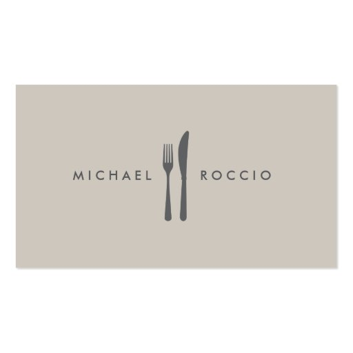 Fork & Knife Logo for Chef, Foodie, Restaurant Business Card Templates