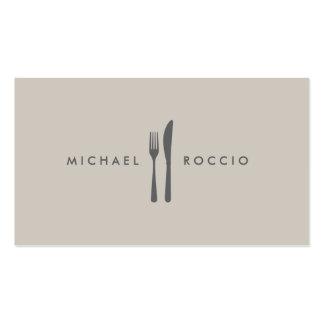 Fork & Knife Logo for Chef, Foodie, Restaurant Pack Of Standard Business Cards