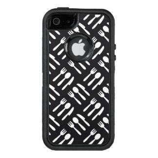 Fork spoon knife pattern OtterBox iPhone 5/5s/SE case