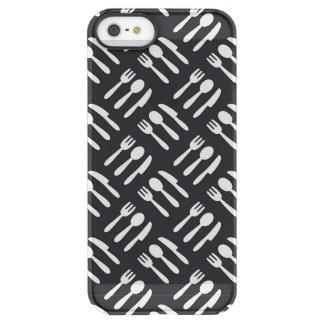 Fork spoon knife pattern permafrost® iPhone SE/5/5s case
