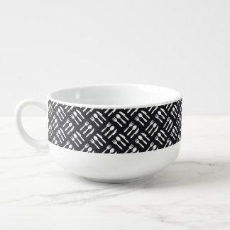 Fork spoon knife pattern soup mug