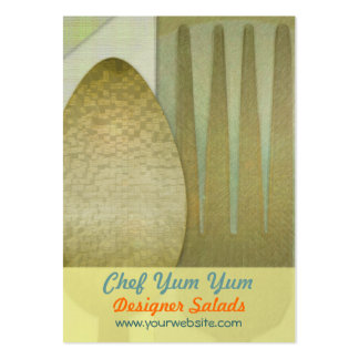 Fork, Spoon, Napkin Pack Of Chubby Business Cards