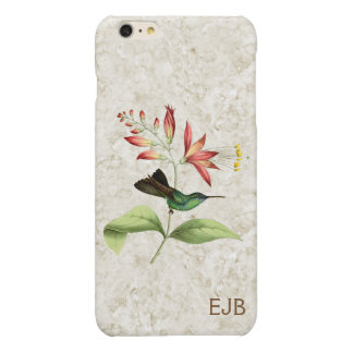 Fork Tailed Wood Nymph Hummingbird Monogram iPhone 6 Plus Case