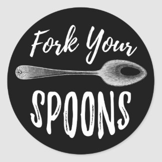 Fork Your Spoons logo sticker