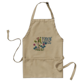 Forkin' Weeds (no background) Standard Apron