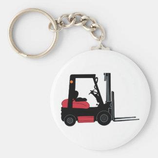 Forklift Basic Round Button Key Ring