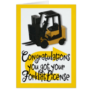 Forklift License Congratulations Card