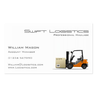 Forklift, Logisitcs - Professional Business Card