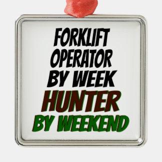 Forklift Operator Hunter Christmas Ornament
