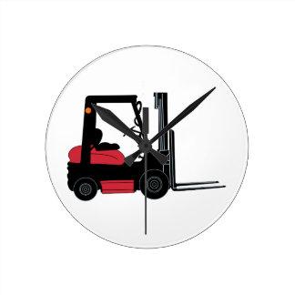 Forklift Round Clock