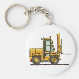 Forklift Truck Construction Key Chains