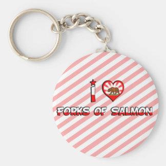 Forks of Salmon, CA Keychain