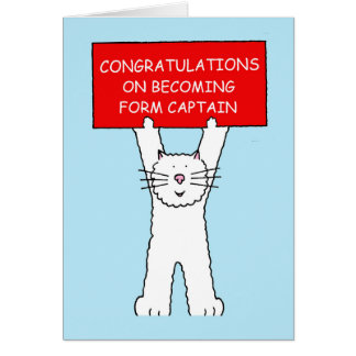 Form Captain congratulations Card