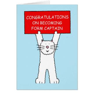 Form Captain congratulations Greeting Card