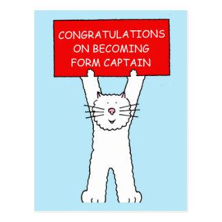 Form Captain congratulations Postcard