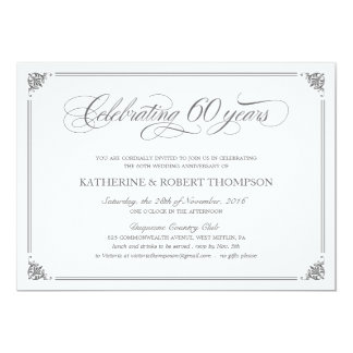 Formal 60th Anniversary Invitations