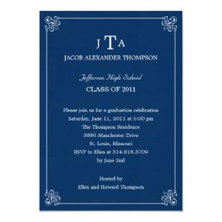Formal Affair Graduation Party Invitation - Navy Announcements