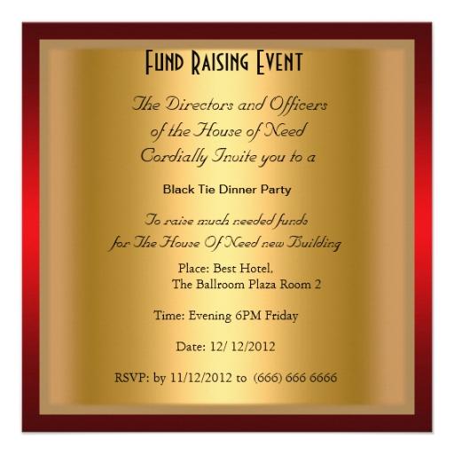 gala invitation wording