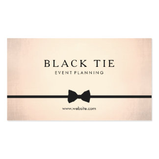 Formal Black Tie Event Planner Gold (no shine) Double-Sided Standard Business Cards (Pack Of 100)