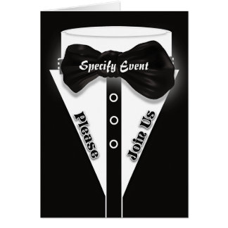 Formal black tie stylish | Personalize Greeting Card