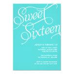 Formal Blue Sweet 16 Invitations